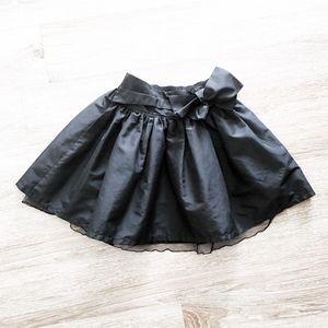 GAP KIDS tea party taffeta black bow tutu skirt s